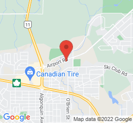 Google Map of 377+Airport+Road%2CNorth+Bay%2COntario+P1B+8A8